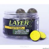 Kulki Starbaits Pop Up LayerZ 14mm Kelp & Spirulina - Yellow