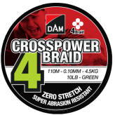 Plecionka D.A.M Crosspower 4Braid 110m/0,22mm